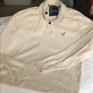 American Eagle thick 1/4 button stand collar